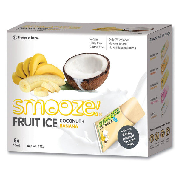 Smooze Ice Box Banana Coconut 552g , Grocery-Confection - HFM, Harris Farm Markets