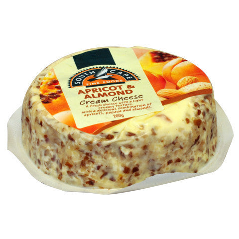 Cream Cheese South Cape Apricot&Almond 200g , Frdg1-Cheese - HFM, Harris Farm Markets