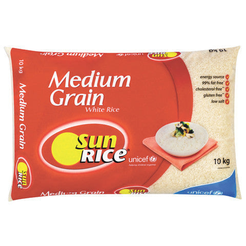 Sunrice Medium Grain Rice 10kg , Grocery-Dry Goods - HFM, Harris Farm Markets