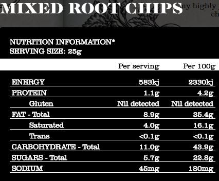 Thomas Chipman - Vegetable Chips - Mixed Root G/F (75g)