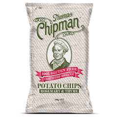 Thomas Chipman - Potato Chips - Rosemary & Thyme G/F (100g)