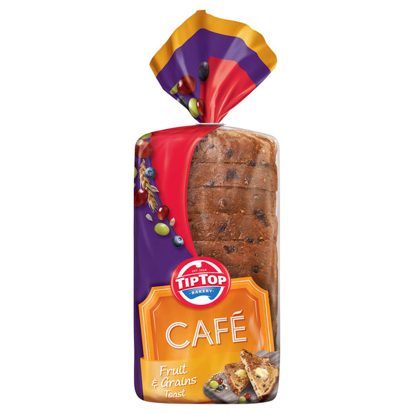 Tip Top Cafe Fruit Grains Toast 650g , Z-Bakery - HFM, Harris Farm Markets