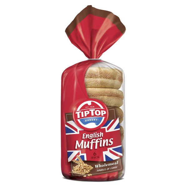 Buy Tip Top English Muffin Wholemeal 6 Pack From Harris
