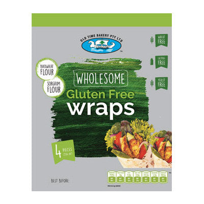 Old Time Bakery Wholesome Gluten Free Wraps 250g
