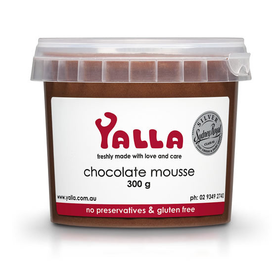 Yalla Chocolate Mousse 300g , Frdg3-Dessert - HFM, Harris Farm Markets