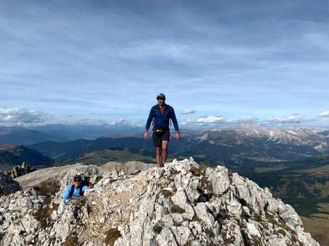 My Brother- and Father in-law atop our Peak in Northern Italy.