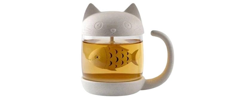 Tasse Infuseur Chat Poisson
