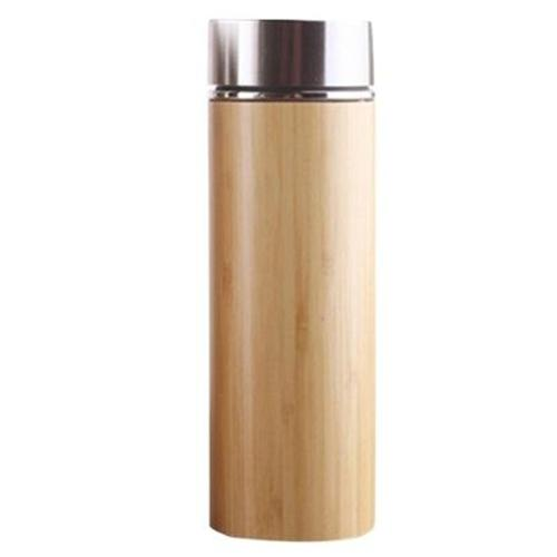 Bouteille Isotherme Inox<br/> Thermos Thé Bambou