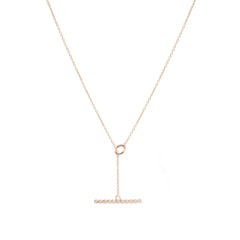 14k horizontal diamond bezel bar toggle necklace