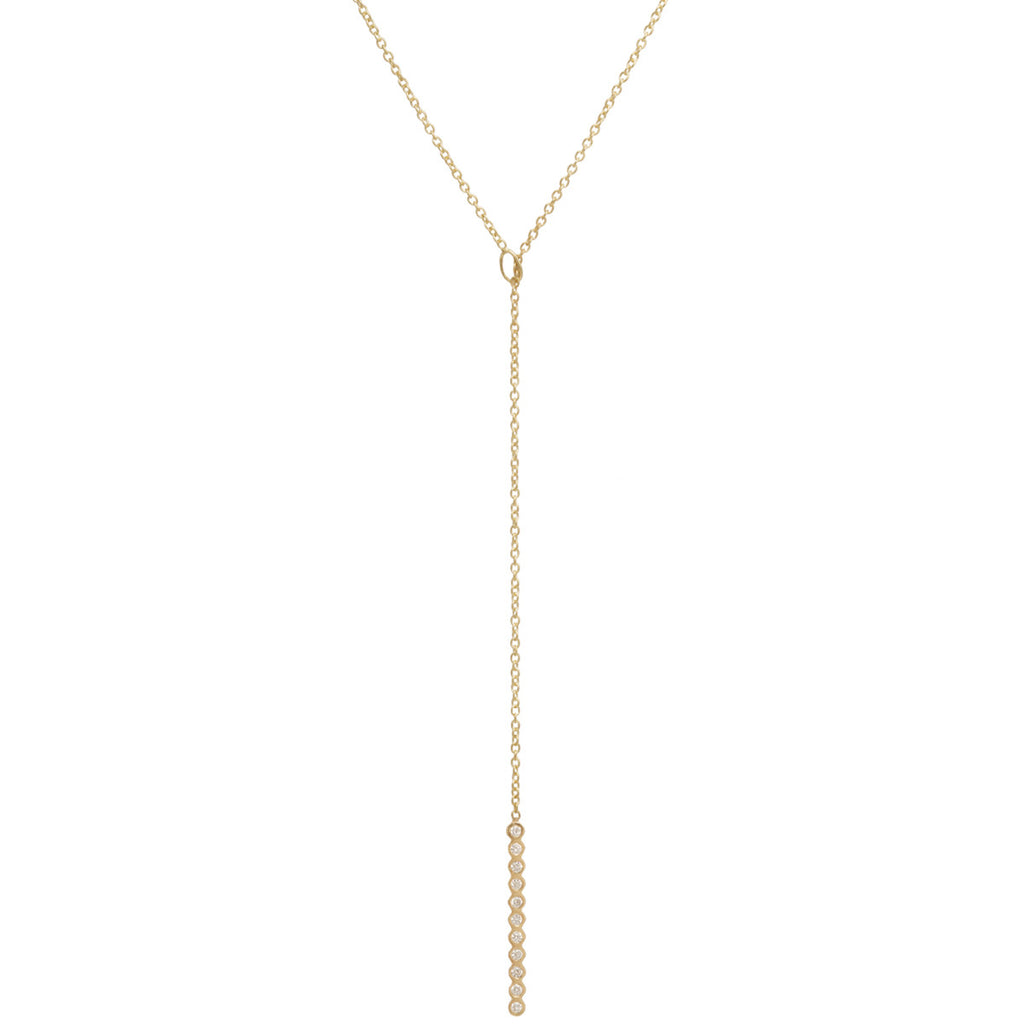 14k vertical bezel bar toggle necklace