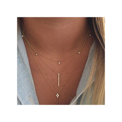 14k vertical tiny diamond bar necklace