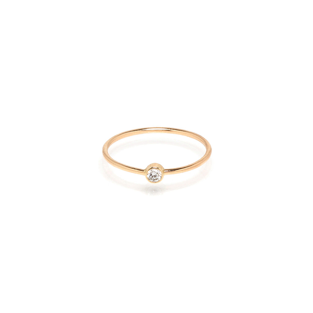 14k single diamond ring | APRIL BIRTHSTONE