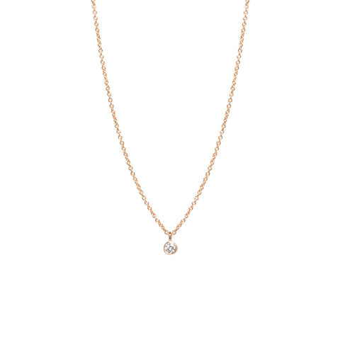 Zo chicco 14k single diamond pendant necklace 14k single diamond pendant necklace 35500 metal aloadofball Choice Image