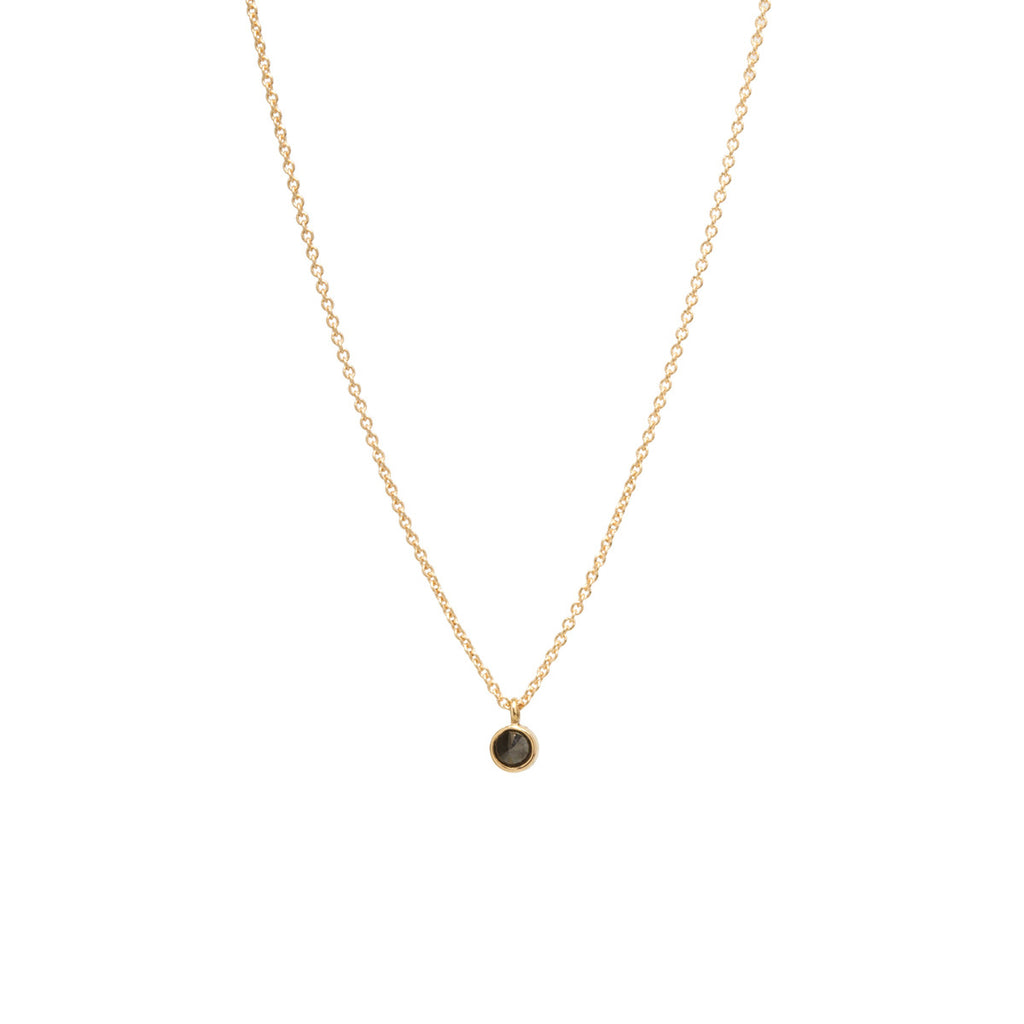14k inverted black diamond choker