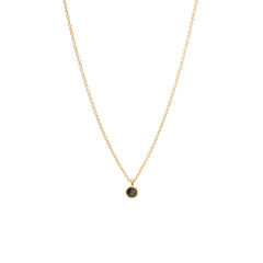 Zoë Chicco 14kt Yellow Gold Inverted Black Diamond Choker Necklace