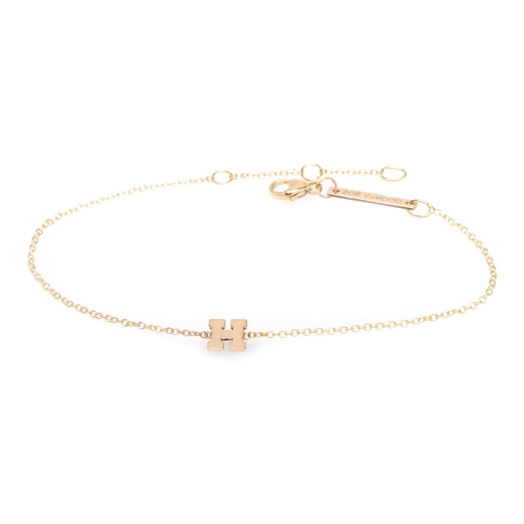 Zoë Chicco 14kt Yellow Gold Letter Bracelet
