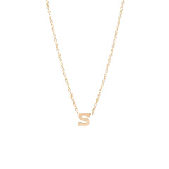 Zoë Chicco 14kt Yellow Gold Letter Necklace