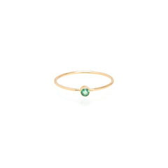 Zoë Chicco 14kt Yellow Gold Bezel Set Emerald Ring