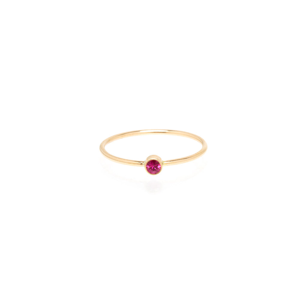 14k ruby bezel ring | JULY BIRTHSTONE