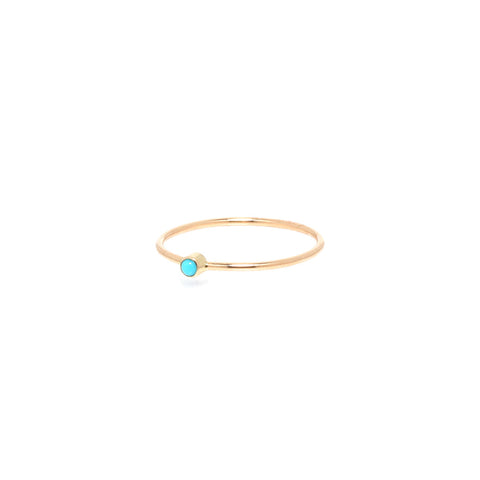 14k turquoise thin band ring