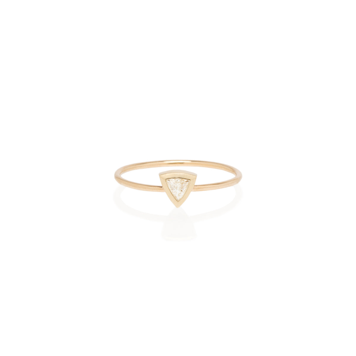 Zoë Chicco 14kt Yellow Gold Large Trillion Diamond Ring