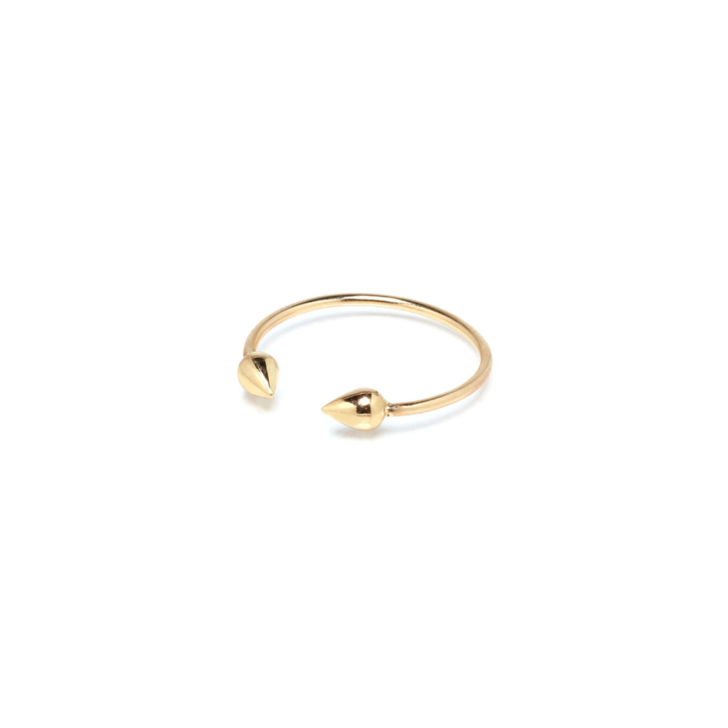 14k tiny bullets ring