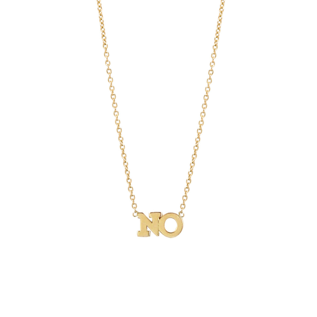 Zoë Chicco 14kt Yellow Gold 2 Letter Necklace
