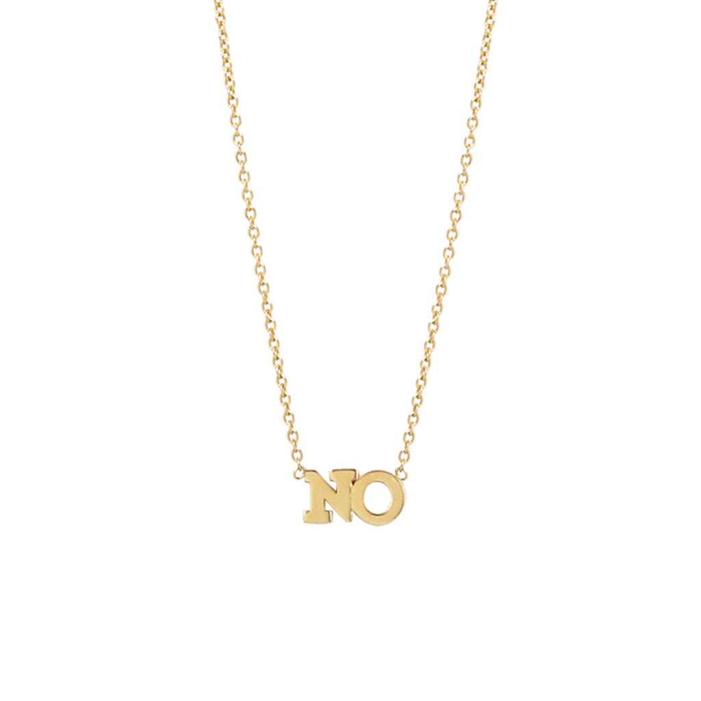 Zoë Chicco Gold Block Initial Necklace WHUiIF