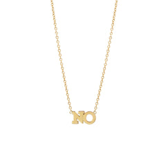 14k gold 2 letter necklace