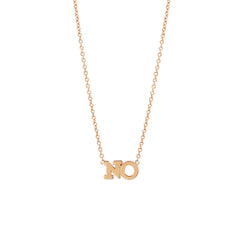 Zoë Chicco 14kt Rose Gold 2 Letter Necklace