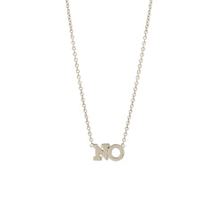 Zoë Chicco 14kt White Gold 2 Letter Necklace