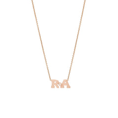 Zoë Chicco 14kt Rose Gold Diamond 2 Letter Necklace