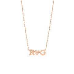 14k gold I heart u necklace