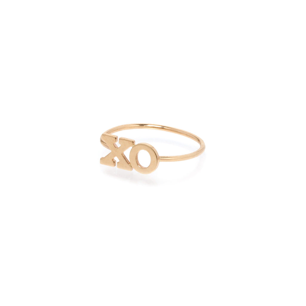 14k two initial ring