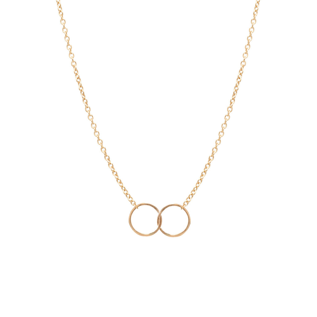 tiny double circles necklace