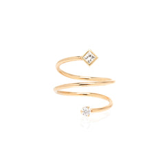 14k mixed diamond wrap ring