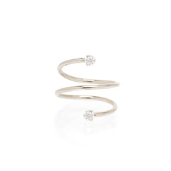 14k prong diamond wrap ring