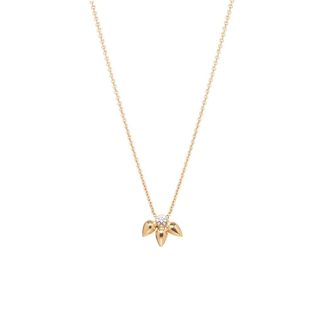 14k diamond bullet cluster necklace