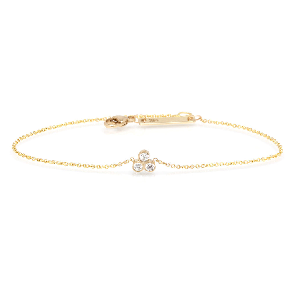Zoë Chicco 14kt Yellow Gold White Diamond Trio Bracelet