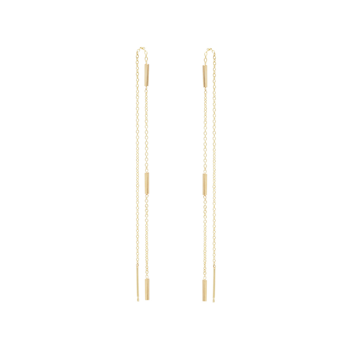 Zoë Chicco 14kt Yellow Gold 3 Tiny Bars Threader Earrings