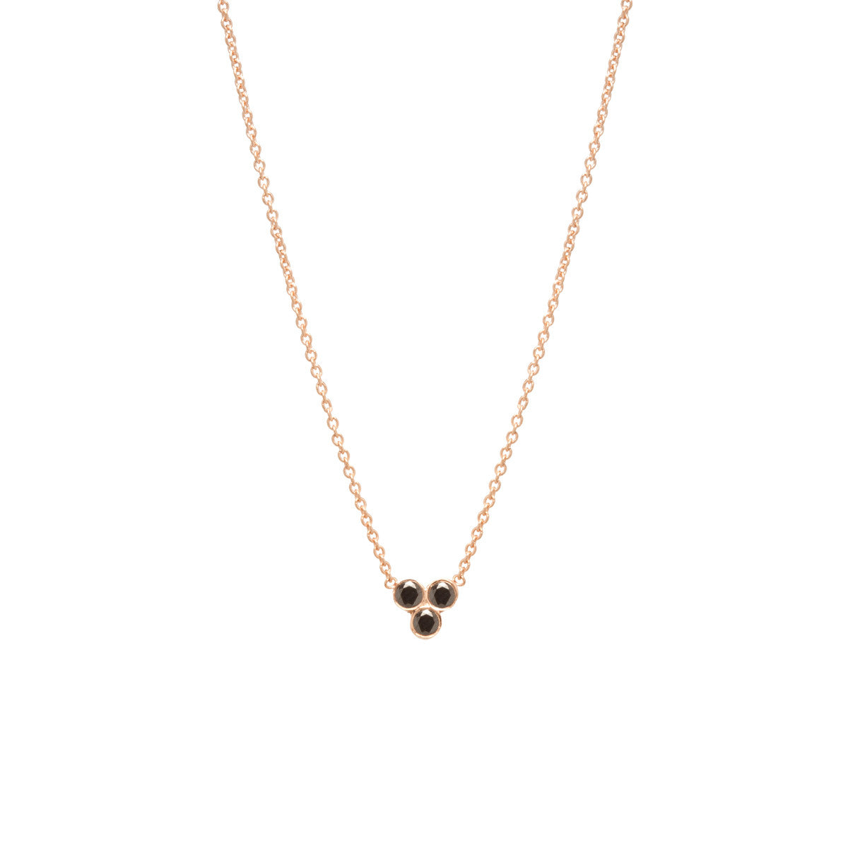 14k trio black diamond necklace