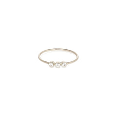 14k 3 diamond ring