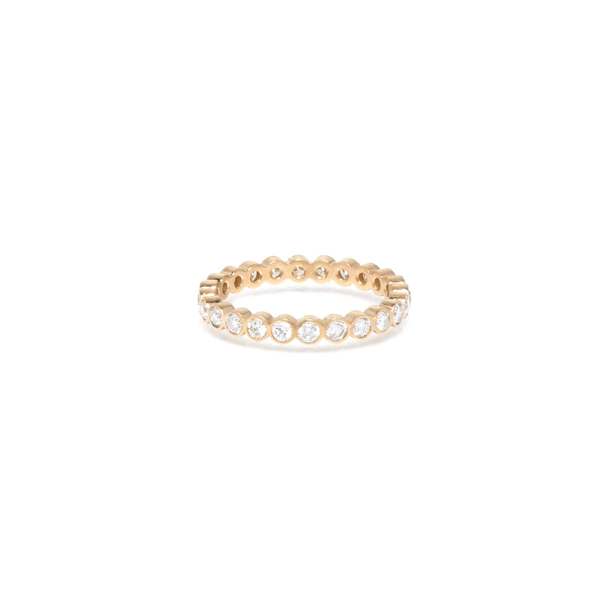 Zoë Chicco 14kt Yellow Gold 3pt Bezel Set White Diamond Eternity Band Ring