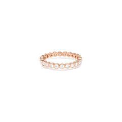 Zoë Chicco 14kt Rose Gold 3pt Bezel Set White Diamond Eternity Band Ring