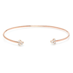 Zoë Chicco 14kt Rose Gold White Diamond Trio Cuff Bracelet