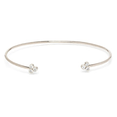 Zoë Chicco 14kt White Gold White Diamond Trio Cuff Bracelet