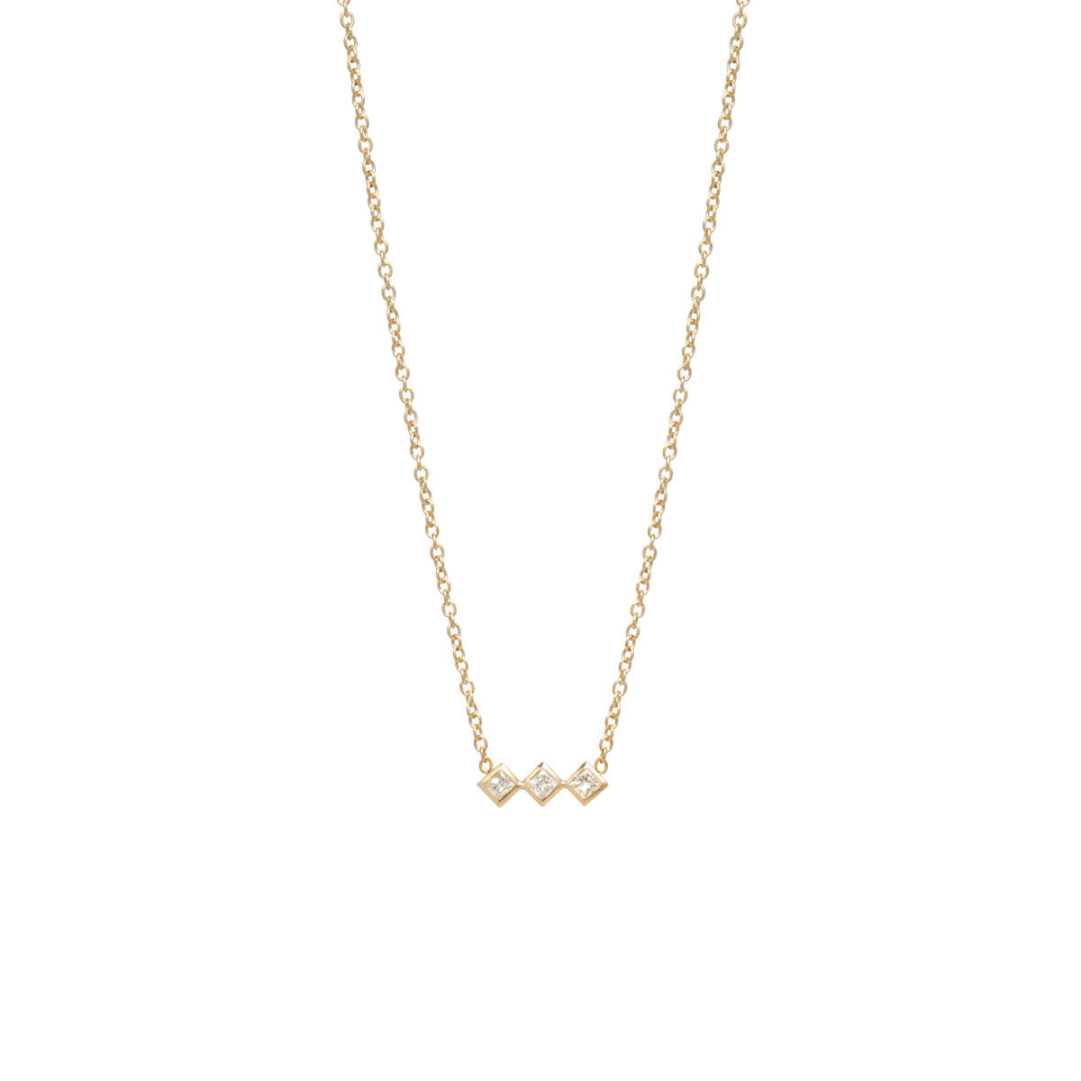 square cut and pendant princess dia chain brilliant gold necklace white round diamond product