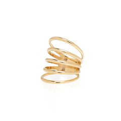 14k separated 5 band ring