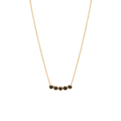 Zoë Chicco 14kt Yellow Gold Five Black Diamond Necklace