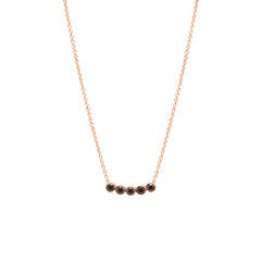 14k five black diamond necklace